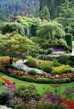 Jardins bonitos de Butchart, console de Vancôver, Cana Foto de Stock Royalty Free