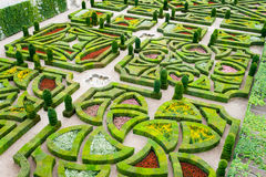 Jardins bonitos do castelo de Villandry no Loire França Fotografia de Stock Royalty Free
