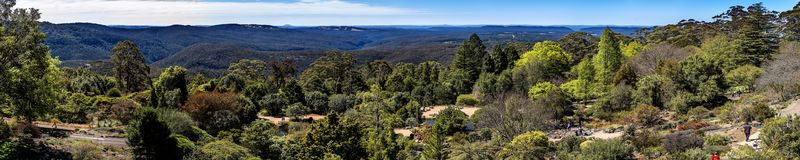 Jardins botânicos de Tomah da montagem, NSW foto de stock