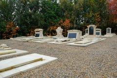 Jardins commémoratifs au cimetière Photo libre de droits