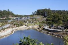 Jardins construídos no canteiro de obras da maneira do legado Fotografia de Stock Royalty Free