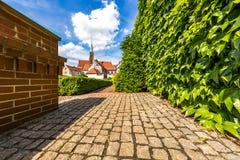 Jardins d'île de Tumsky dans la ville de Wroclaw Photos libres de droits