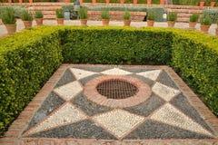 Jardins d'Alcazaba Photos libres de droits