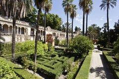 Jardins d'Alcazar de Séville Photo stock
