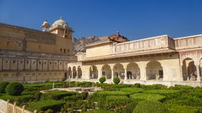 Jardins d'Amer Fort, Jaipur, Ràjasthàn, Inde photos libres de droits