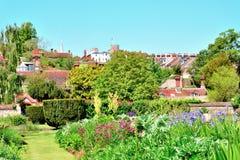 Jardins dans la ville de Lewes images stock