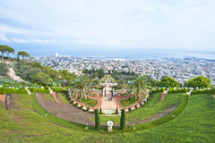 Jardins de Baha'i Photos libres de droits