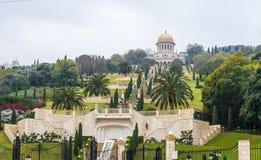 Jardins de Bahai à Haïfa, Israël Photographie stock libre de droits