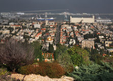 Jardins de Bahai à Haïfa l'israel Image libre de droits