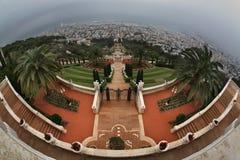 Jardins de Bahai à Haïfa l'israel Image stock
