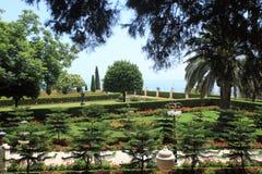 Jardins de Bahai à Haïfa sur le mont Carmel Images stock