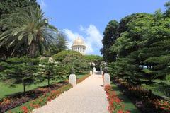 Jardins de Bahai avec le tombeau du Bab, Haïfa Photos libres de droits