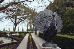 Jardins de Bahai dans l'acre Images libres de droits