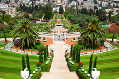 Jardins de Bahai em Haifa Israel. Fotografia de Stock Royalty Free