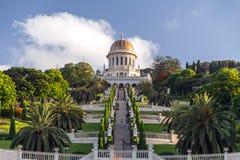 Jardins de Bahai, Haïfa, Israël images stock
