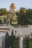 Jardins de Bahai, Haïfa, Israël photographie stock libre de droits