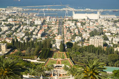 Jardins de Bahai, Haïfa, Israël Photographie stock