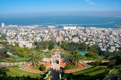 Jardins de Bahai. Haïfa. l'Israël. Images stock