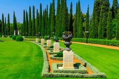 Jardins de Bahai, no acre Akko Fotos de Stock Royalty Free