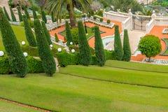 Jardins de Bahai - terrasse Photos libres de droits