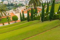 Jardins de Bahai - terrasse Images libres de droits