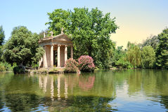 Jardins de Borghese da casa de campo, Roma Imagem de Stock Royalty Free
