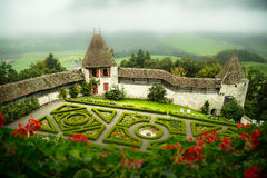 Jardins de château photos stock
