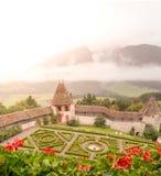Jardins de château photographie stock libre de droits
