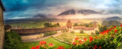 Jardins de château Images stock