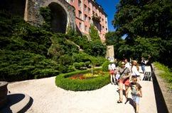 Jardins de château Pologne de Ksiaz Image libre de droits