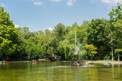 Jardins de Cismigiu em Bucareste Imagem de Stock