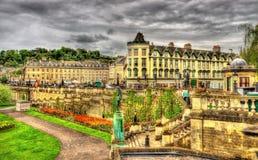 Jardins de défilé à Bath - Angleterre Photographie stock libre de droits