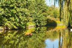 Jardins de flutuação amiens france de Hortillonnages a outra vista Foto de Stock