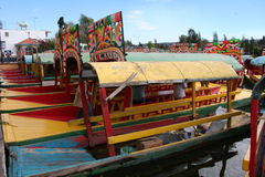 Jardins de flutuação em Xochimilco - México Foto de Stock Royalty Free