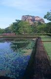 Jardins de forteresse de la roche du lion de Sigiriya image libre de droits