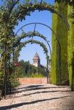 Jardins de Generalife en La Alhambra Photo libre de droits