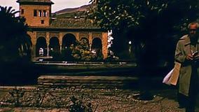 Jardins de Grenade Alhambra banque de vidéos
