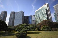 Jardins de Hamarikyu em Tokyo, Japão fotografia de stock royalty free