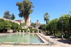 Jardins de l'Alcazar de Christian Monarchs, Cordoue, Espagne Images libres de droits
