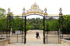 Jardins de la Fontaine dans Nîmes, France Photographie stock