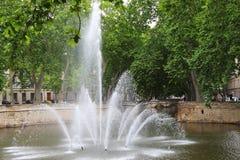 Jardins de la Fontaine, Nîmes, Frankrike Royaltyfria Bilder