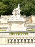 Jardins de la Fontaine, Nimes ( France ). Jardins de la Fontaine, (Gardens of the Fountain, 18th-century) built around the roman thermae ruins Royalty Free Stock Photo