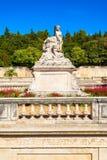 Jardins de la Fontaine park. Les Jardins de la Fontaine is a public park located in Nimes city in southern France royalty free stock images