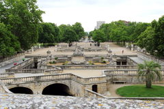 Jardins de la Fontaine from terrace, Nîmes, France Royalty Free Stock Photo