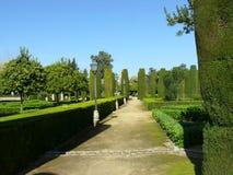 Jardins de la visibilité directe Reyes Cristianos de l'Alcazar De Image stock