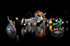 Jardins de lumière Arkivfoto