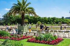 Jardins de Luxemburgo, Paris, França Imagens de Stock Royalty Free
