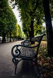 Jardins de Mirabell à Salzbourg, au printemps photographie stock