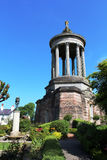 Jardins de monument de Robert Burns Memorial, Alloway Images libres de droits