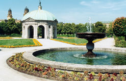 Jardins de Odeonsplatz imagem de stock